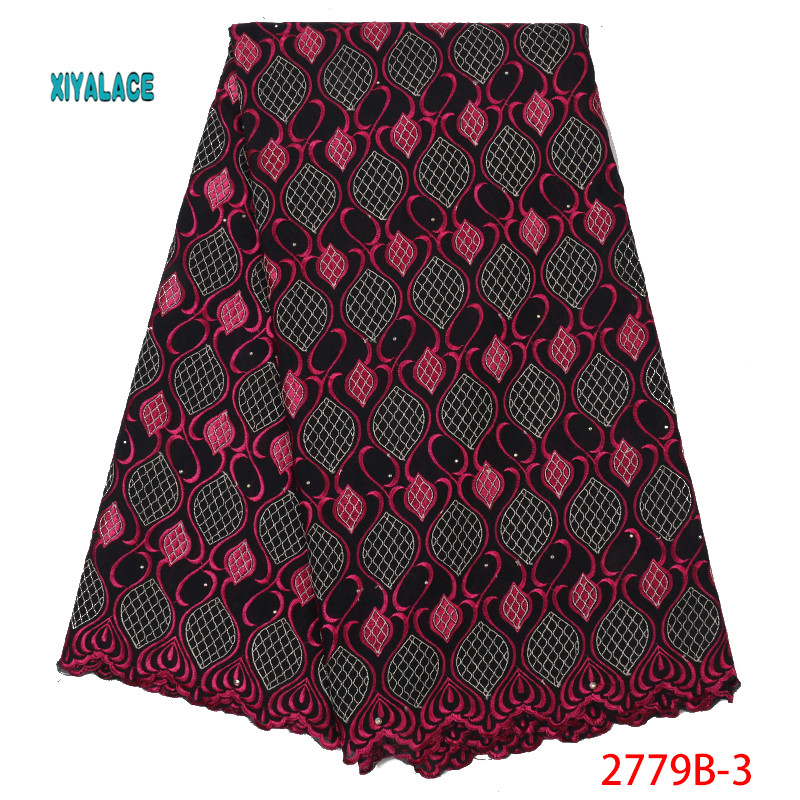 Hot Selling African Lace Fabrics Nigerian Swiss Lace Fabric 2019 High Quality Lace Pink French Lace Fabric For Wedding YA2779B-3