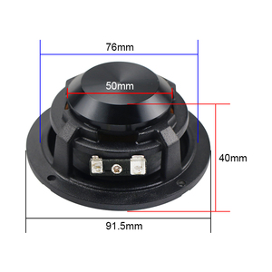 Image 5 - GHXAMP 2PCS 3 inch midrange speaker wool basin car mid DSP 3 way crossover Surround Center pure intermediate frequency 4OHM 30W