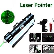 Мощная зеленая лазерная указка 5 мВт 532 нм зеленая красная точсветильник мощное лазерное устройство лазерная ручка