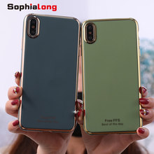 Newest 2020 6D Plated Phone Cases for iPhone 11 Pro Max Cover Soft Silicone Shell for iPhone X XR XS Max Case with Shinning Edge(China)