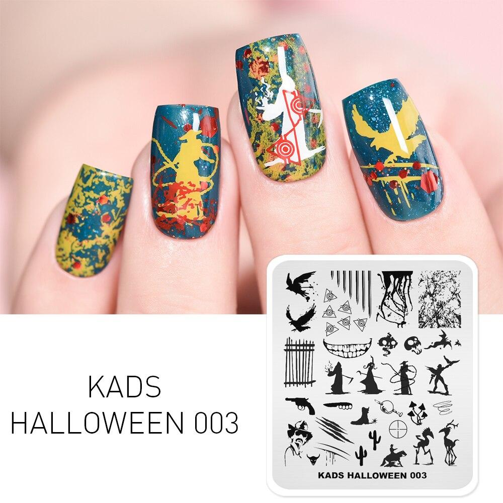KADS Halloween 003 Nail Stamping Plates Ghost & Skull Pattern Nail Art Polish Stamp Stamping Plate Print Template Nails Stencils