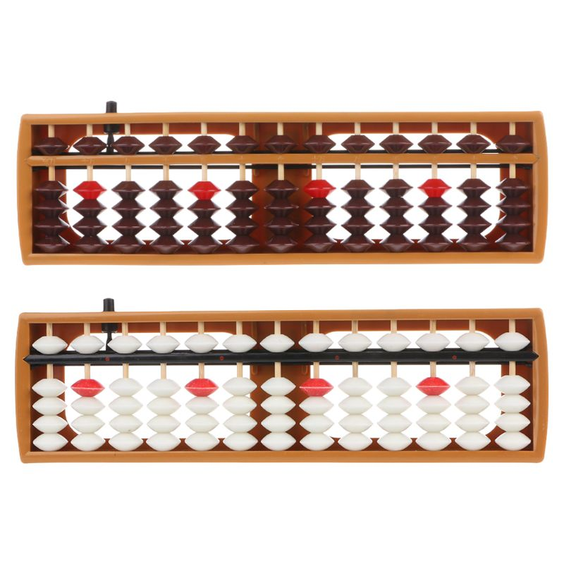 Portable Japanese 13 Digits Column Abacus Arithmetic Soroban Caculating School Math Learning Tool L41E