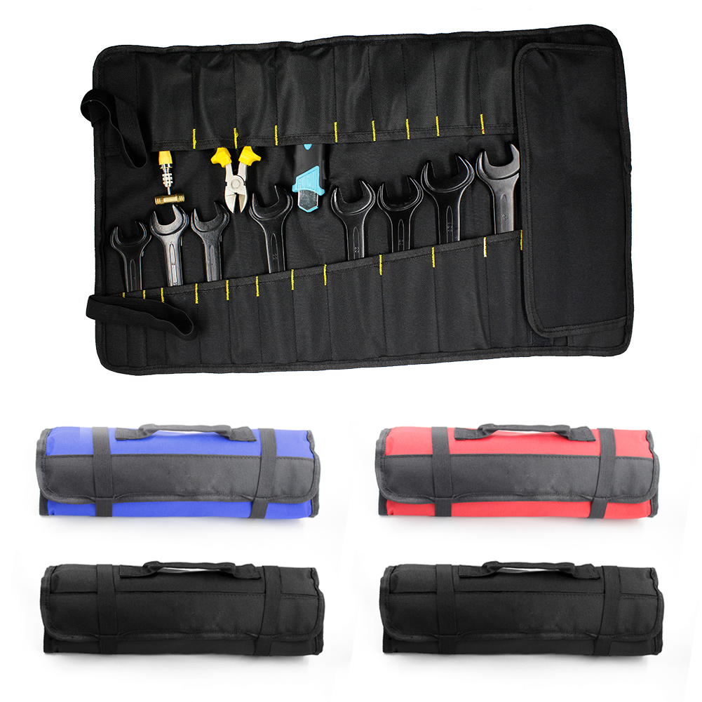 Multifunction 600D Oxford Cloth Wrench Bag Folding Tool Roll-up Bag Storage Pocket  Portable Tools Pouch Case Organizer Holder