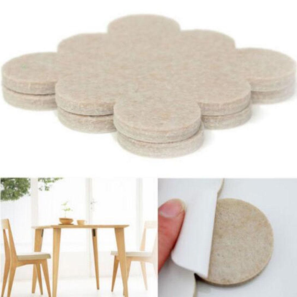 18PCS Oak Furniture Chair Table Legs Self-Adhesive Felt Pad Wood FLoor Protection Mat Home Decoration Anti-Skid Mute