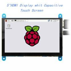EQV 5 дюймов портативный монитор HDMI 800x480 емкостный сенсорный экран ЖК-дисплей для Raspberry Pi 4 3B +/PC/Banana Pi