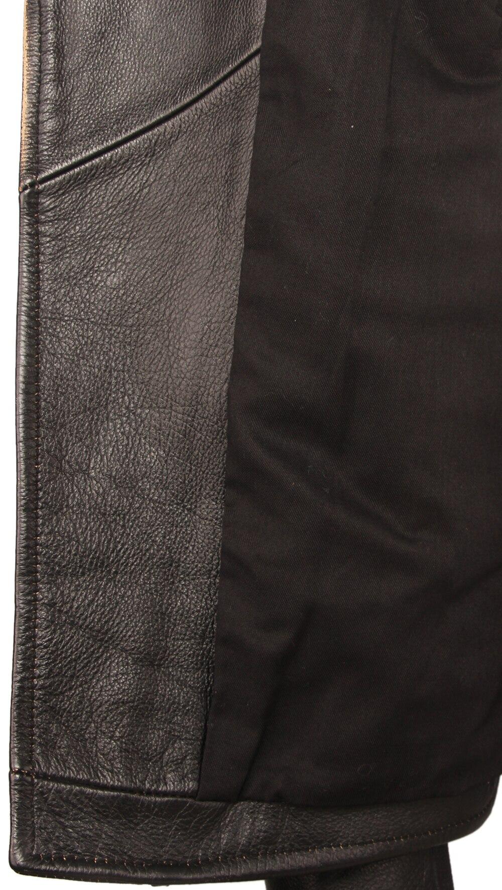 He945e0e38705453b871c971dbc9c0928G Vintage Motorcycle Jacket Men Leather Jackets Thick 100% Cowhide Genuine Leather Coat Winter Biker Jacket Moto Clothing M456