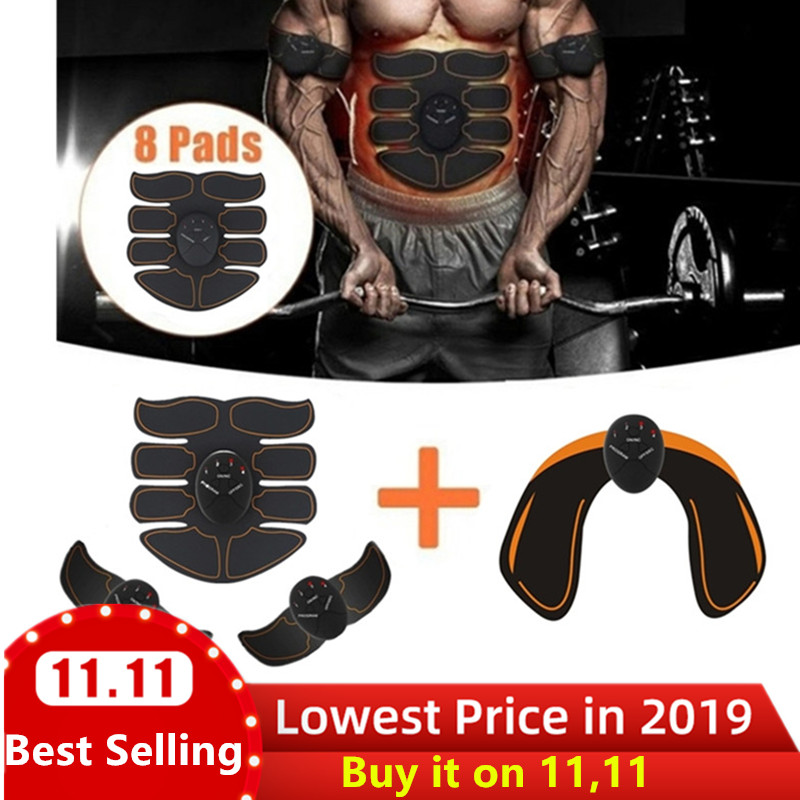 6 Mode Smart Electric muscle stimulator Abdominal ABS ems Hip Trainer fitness Buttocks Shaper Weight loss slimming Massage-in Massage & Relaxation from Beauty & Health