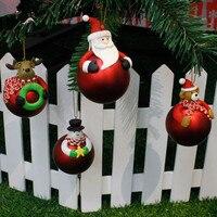 Weihnachten Baum 3D Decor Bälle Santa Claus Elch Party Hängen Ornament Flitter Drop Anhänger Kind Favor Weihnachten Home Geschenk Dekorationen, Q