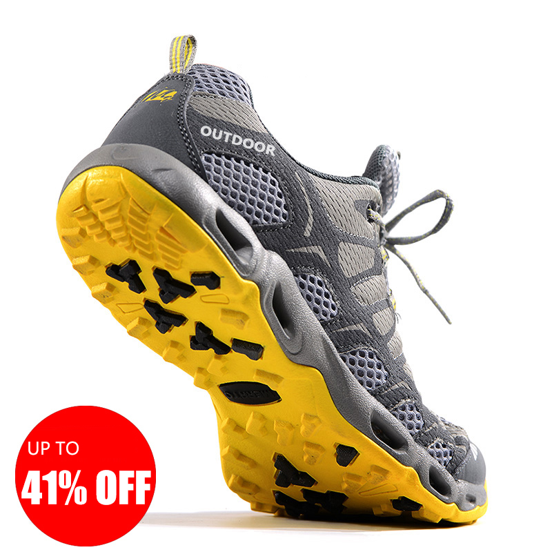 Unisex Summer Hiking Shoes Outdoor Sneakers Breathable Light Sport Shoes Trekking Fishing Shoes Men Climbing Trail Water Sandals