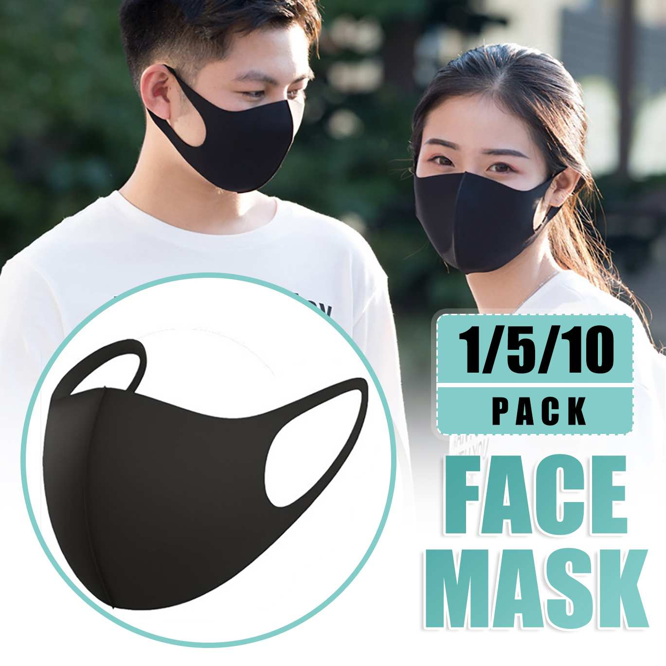 1/5/10Pcs Cotton Face Mask Mouth Mask Reusable Washable Earloop Mask Isolation Protection Anti Dust Haze Outdoor Dustproof Masks 1