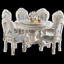Дизайнерский уникальный набор для столовой из нержавеющей стали с мраморным столом и 6 кожаными стульями mesa de jantar muebles comedor