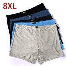 Boxer en coton pour hommes, 5 pièces/Lot, Plus 5XL 6XL 7XL 8XL, sous-vêtements, XXXXL, nouvelle collection 2020