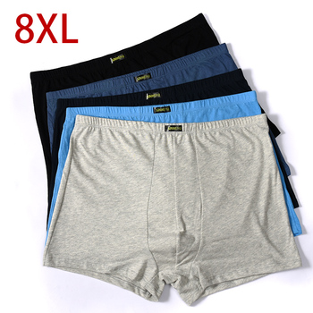 5pcs/lot Cotton Plus 5XL 6XL 7XL 8XL Underwear Boxer Male XXXXL 2020 New Mens Pantie Lot Underpant Loose Large Short
