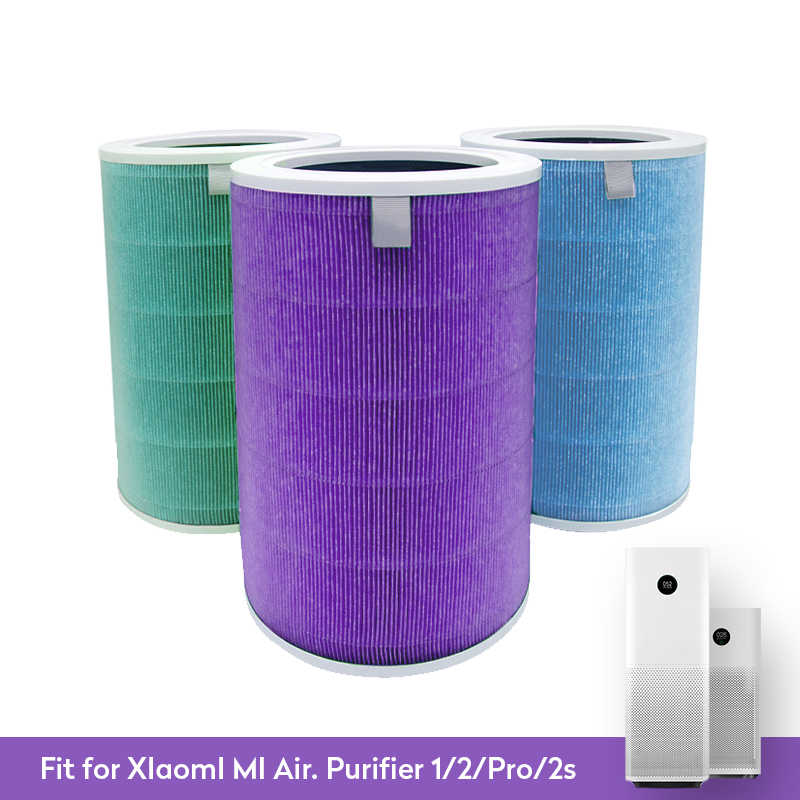 Atualizado para xiao mi 1/2/2 s pro purificador de ar filtro carbono hepa substituição do filtro de ar para casa anti pm2.5 formaldeído
