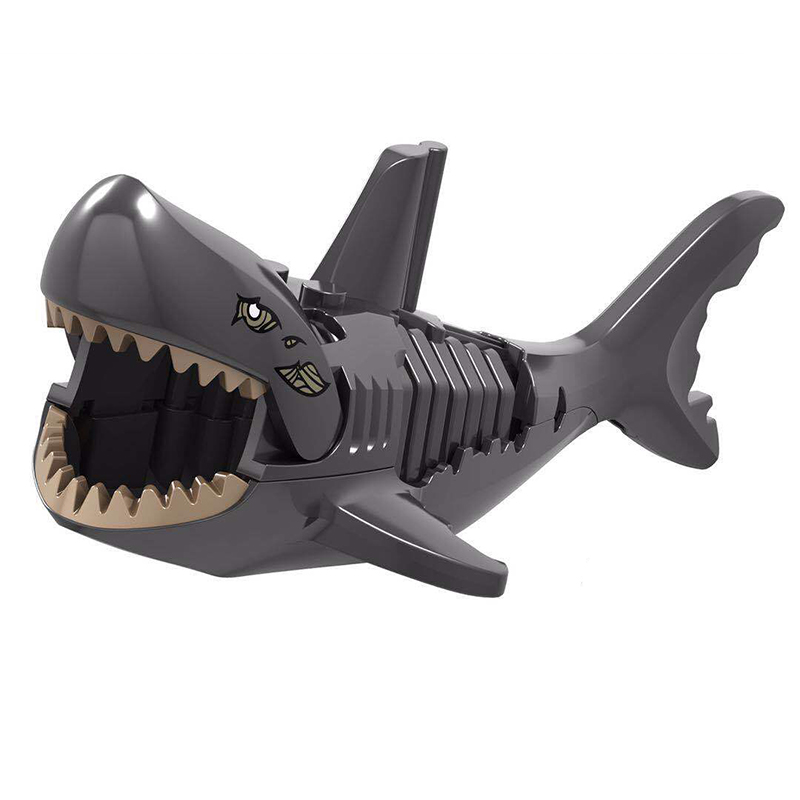 Mini Building Blocks Sharks Colorful Christmas Birthday Gift Assembly Toy Animal Educational Toys For Children Building Blocks