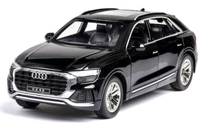 Image 2 - 1:24 audi Q8 SUV off road vehicle model high simulation alloy car model with sound light pull back kids toy car free shipping