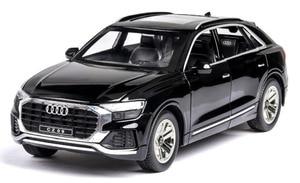 Image 2 - 1:24 audi Q8 SUV pojazd terenowy model wysokiej symulacji aluminiowy model samochodu z dźwiękiem światła wycofać dziecięca zabawka samochód darmowa wysyłka