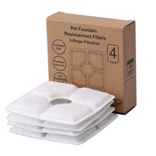 Filter element - small flower square pet water dispenser accessories high iodine value coconut shell activated carbon and ion ex