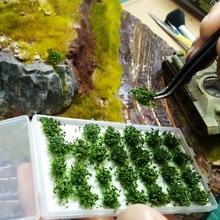 28 шт Имитация куста пейзаж Миниатюрная модель сцены для 1:35/1:48/1: 72/1: 87 масштаб песка стол-темно-зеленый