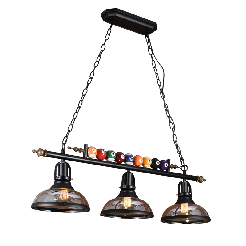 Retro Industrial Creative Billiard Table Pendant Lamp Nordic Decorate Lights LED Pendant Lights Restaurant Bar Cafe Hanging Lamp