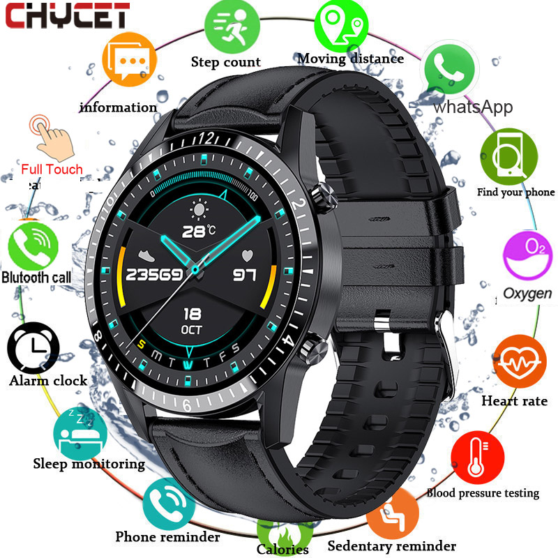 Bluetooth Call Smart Watch Men Women Full Touch Round Screen Smartwatch Heart Rate Blood Oxygen Monitor Fitness Tracker Watches