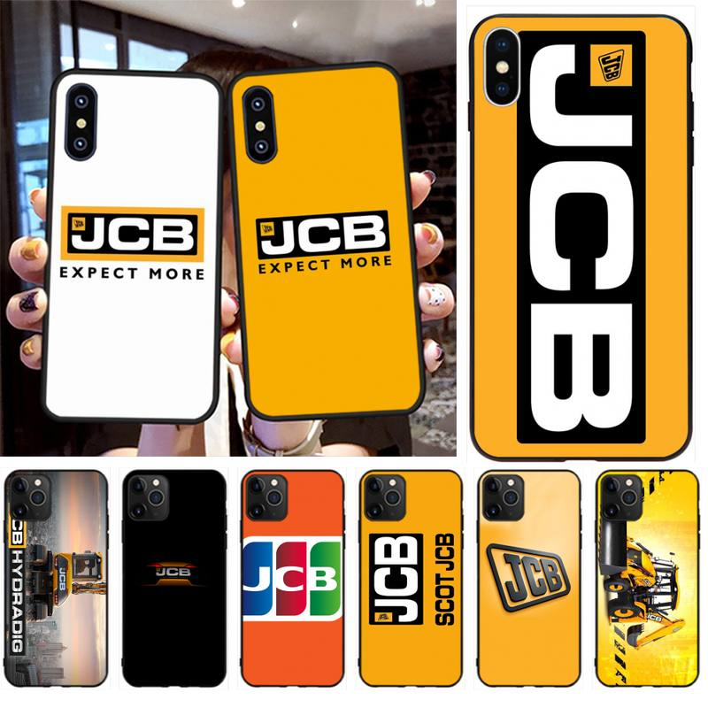 PENGHUWAN Jcb Logo Fashion Bling Cute Phone Case for iPhone 11 pro XS MAX 8 7 6 6S Plus X 5S SE XR case image