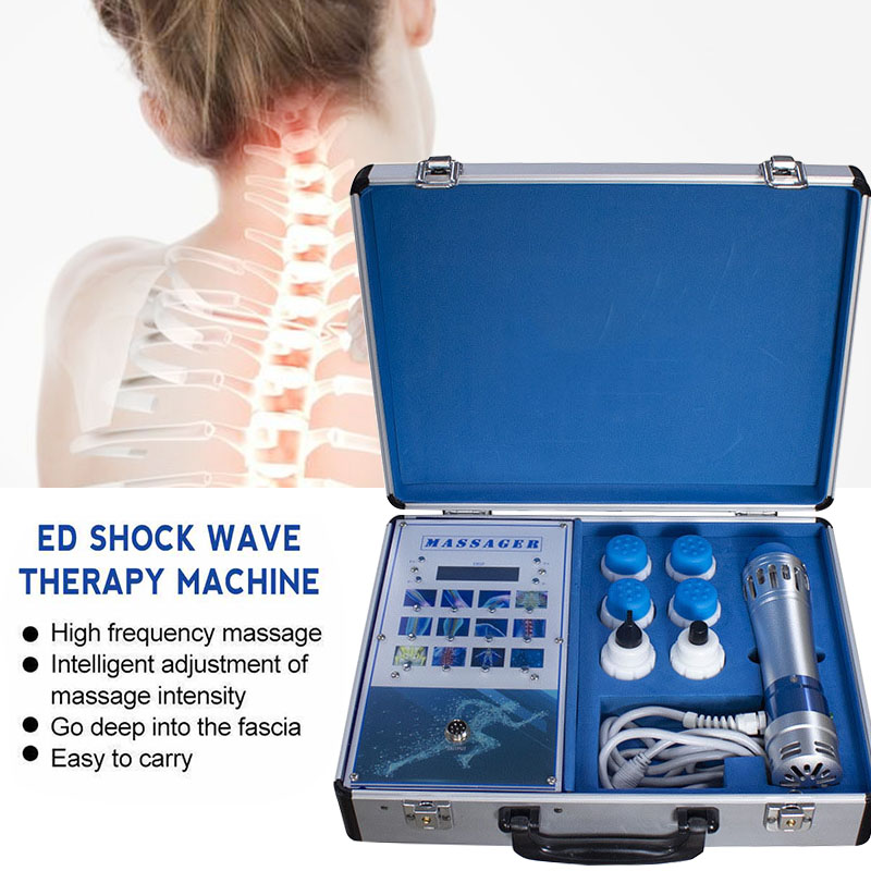 Tragbare Körper Schmerzen Relief und ED Behandlung Schock Welle Therapie Maschine mit 2 Professionelle ED Behandlung Köpfe