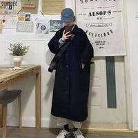 Cappotto lungo da donna moda coreana stile Preppy retrò giacca a vento multifunzione lana calda Plus Size 2021 primavera donna cappotto spesso