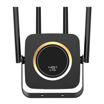 4G LTE Router 300Mbps High Speed Wireless CPE Built-In 3000MAh Battery Mobile Wifi Hotspot with SIM Card Slot Lan Port Us Plug