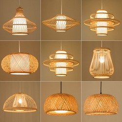 Китайский бамбуковый Ретро подвесной светильник, Плетеный подвесной светильник, светильник для гостиной, отеля, ресторана, прохода, подвес...