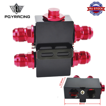 PQY - Oil Filter Sandwich Adaptor With In-Line Oil Thermostat AN10 fitting Oil Sandwich Adapter PQY5672BK
