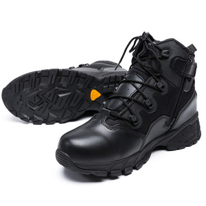 Image 3 - Military Combat Boots For Men Desert Genuine Leather Tactical Army Ankle Boots Casual Breathable Zipper Man Safety Working Shoes