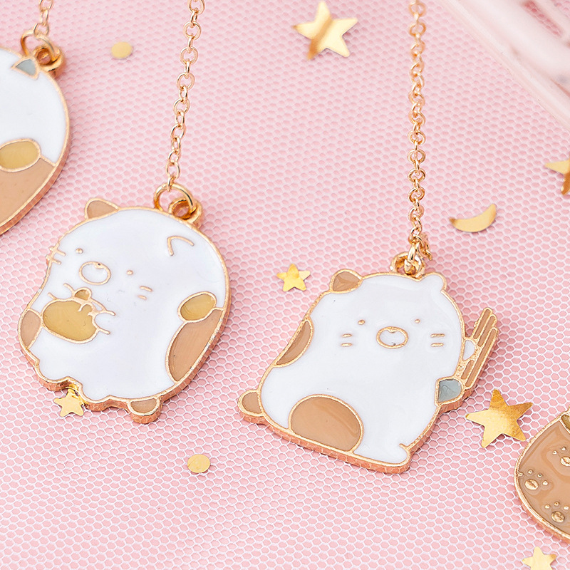 1pcs/1 Lot Cute Corner Creature Metal Pendant Steel Bookmarks Bookmarks For Books/Share/book Markers/tab For Books/stationery