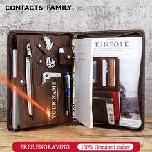 Семейный роскошный кожаный портфель на молнии contact's