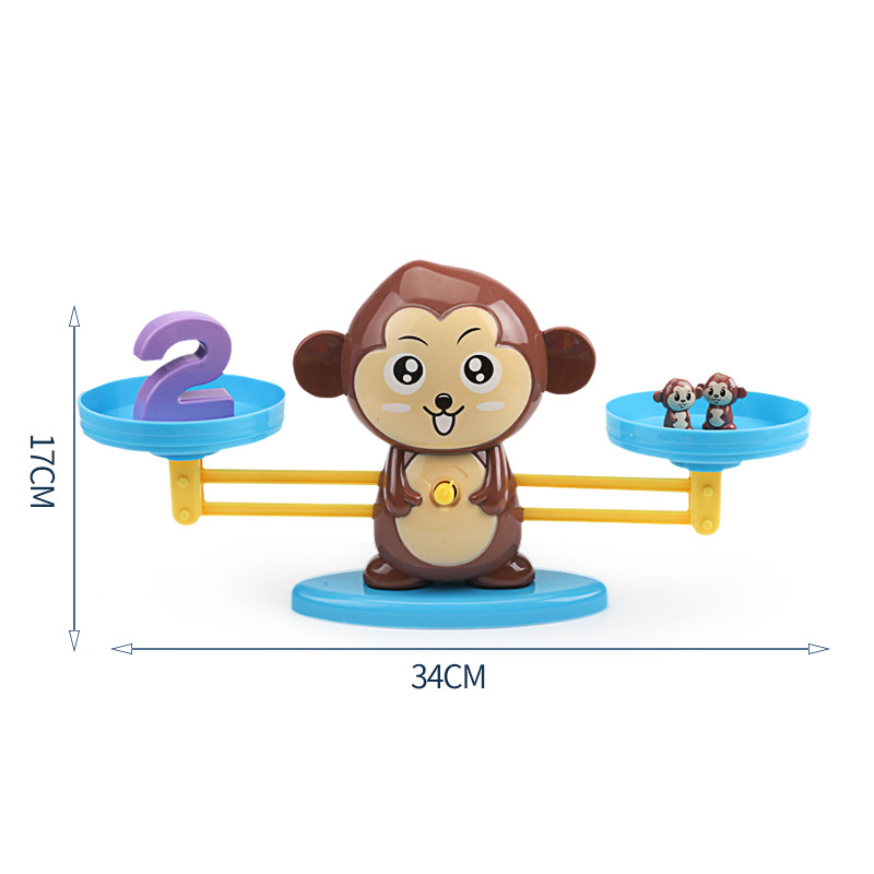 Toy Educational Balance-Scale Board-Game Learning-Toys Math-Toy Number Montessori Monkey Digital