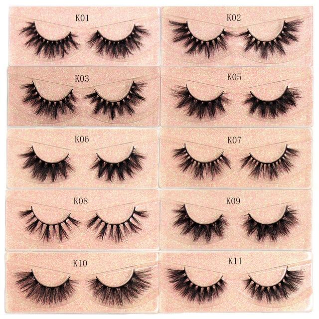 Makeup Mink Eyelashes 100% Cruelty free Handmade 3D Mink Lashes Fluffy Full Strip Lashes Soft False Eyelashes Makeup Lashes 4