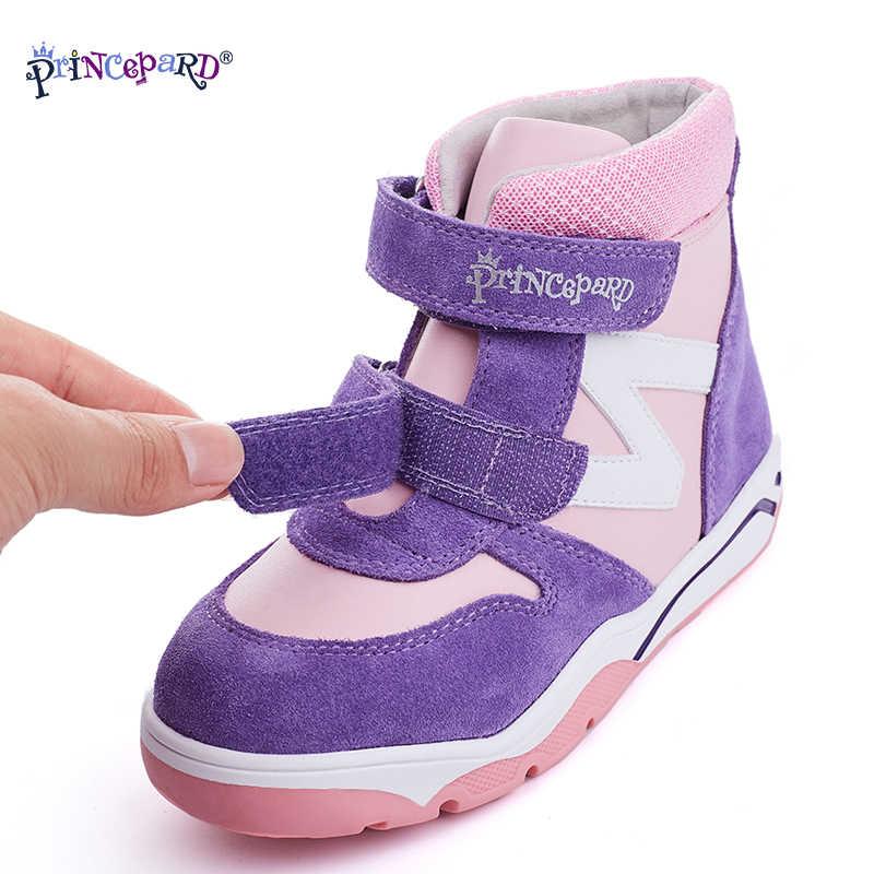Princepard Premium Kwaliteit Warm Sythetic Bont Orthopedische Winter Laarzen Voor Meisjes Kinderen Met Enkel Ondersteuning Orthopedische Schoenen