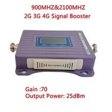 ZQTMAX 2G 3G مكرر GSM UMTS موبايل مكبر صوت أحادي 900 2100 المزدوج الفرقة إشارة الداعم 70dB الهاتف المحمول مكرر إشارة الخلوية