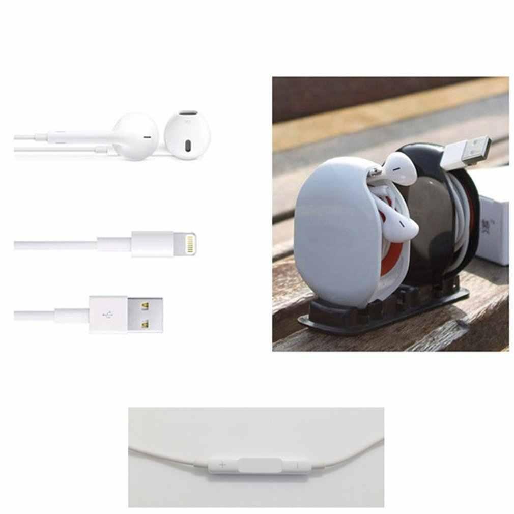 Nuovo Distributore Automatico di chiusura Cavo Cavo di Legare Organizzatore Argano della bobina di Smart Wrap Per CAVO Delle Cuffie In Ear Auricolari 5 colori