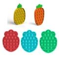 Пуш-ап поп-пузырь сенсорная игрушка для аутистов нужны игрушки для снятия стресса фруктов, ананасов и клубники; Морковь анти-стресс Непосед...