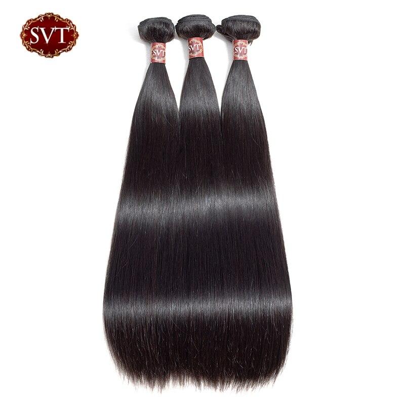 SVT Hair Malaysian Hair Weave Bundles Straight Hair 3 Pcs/Lot 100% Non-Remy Hair Extension Human Hair Wholesale Price 1