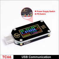TC66/TC66C Type-C PD Trigger USB-C Voltmeter Ammeter Voltage 2 Way Current Meter Multimeter PD Charger Battery USB Tester