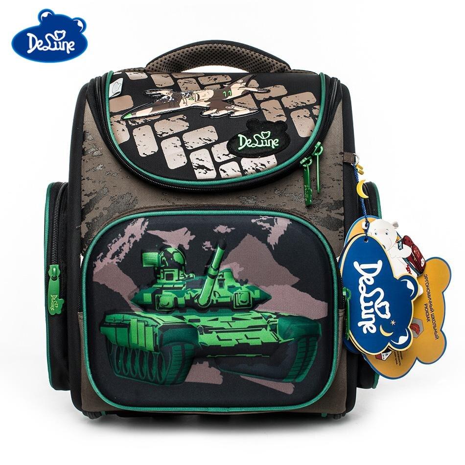 2019 Delune Brand Girls School Bags 5 9 Years Boys Safe 3D Orthopedic Children School Backpacks