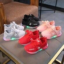 Children Luminous Shoes Boys Girls Sport Running Sh