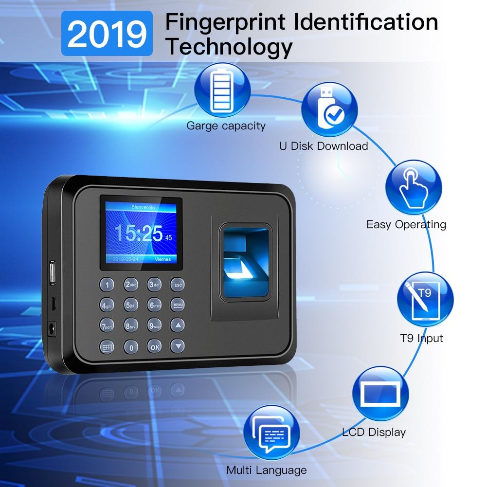 maquina do comparecimento da impressao digital biometrico inteligente maquina de comparecimento do tempo relogio tempo gravador