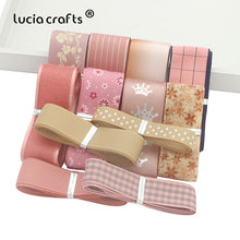 Lucia Crafts 12y  Grosgrain Organza Satin Ribbons for Hairbows Craft Headwear Wrapping Accessories T0308