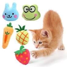 1 sztuk nowy kot pluszowe owoce i ze wzorami zwierząt zabawka dla kota kocimiętka słodka zabawka zabawny interaktywny pluszowy kot pazury ugryźć produkty dla kotów