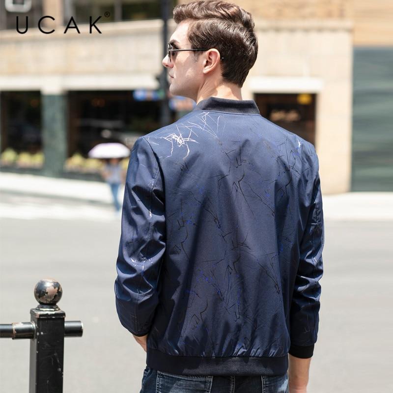 UCAK Brand Casual Zipper Chaquetas Hombre Men Clothes Jackets 2020 Spring New Arrival Blouson Homme Mens Clothing Coats U8083