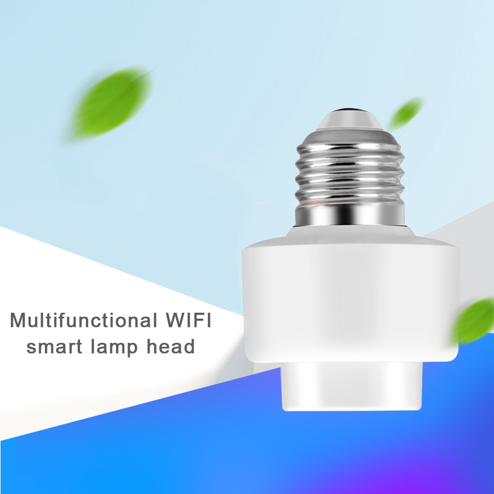 New Smart E27 Light Bulb Head Base Intelligent Lamp Head Wifi Remote Switch Voice Control Compatible with Alexa Google Home-in Home Automation Modules from Consumer Electronics