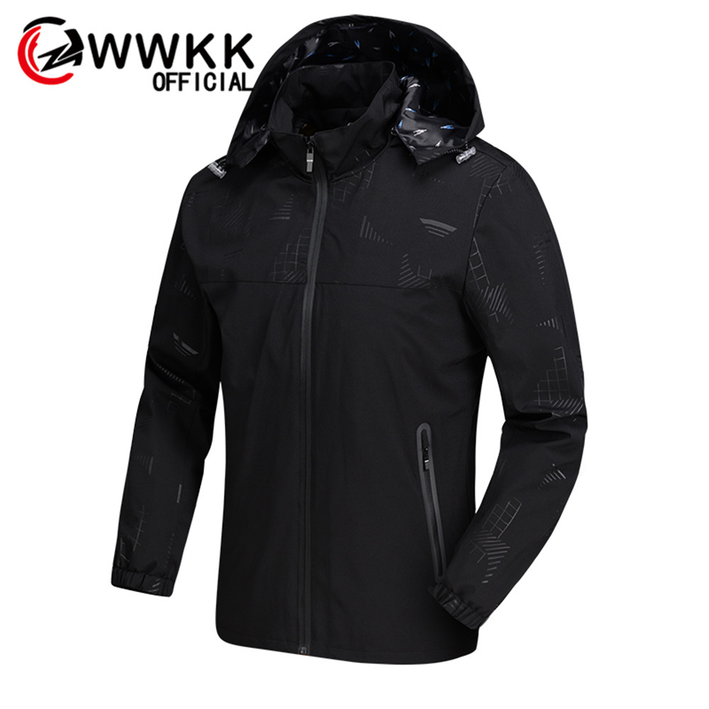 Men's Casual Zipper Hoodie Pocket Outwear Blouse Pilot Jackets Quality Casual Autumn Winter Waterproof Breathable Hooded Jacket